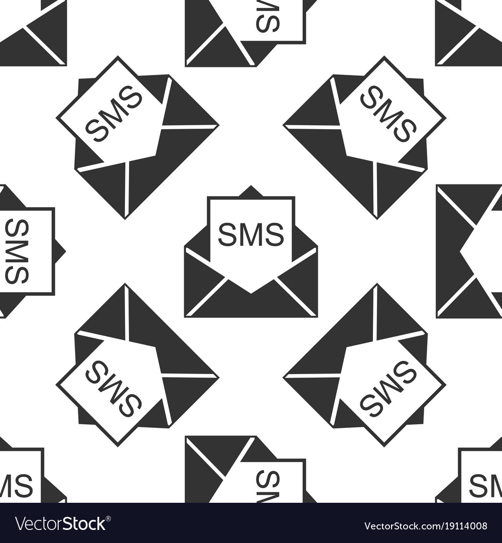 New email incoming message envelope with sms vector image