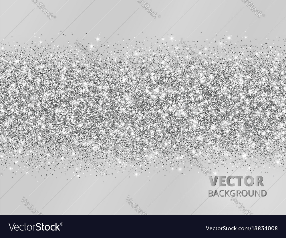 sparkling glitter border on grey background vector image