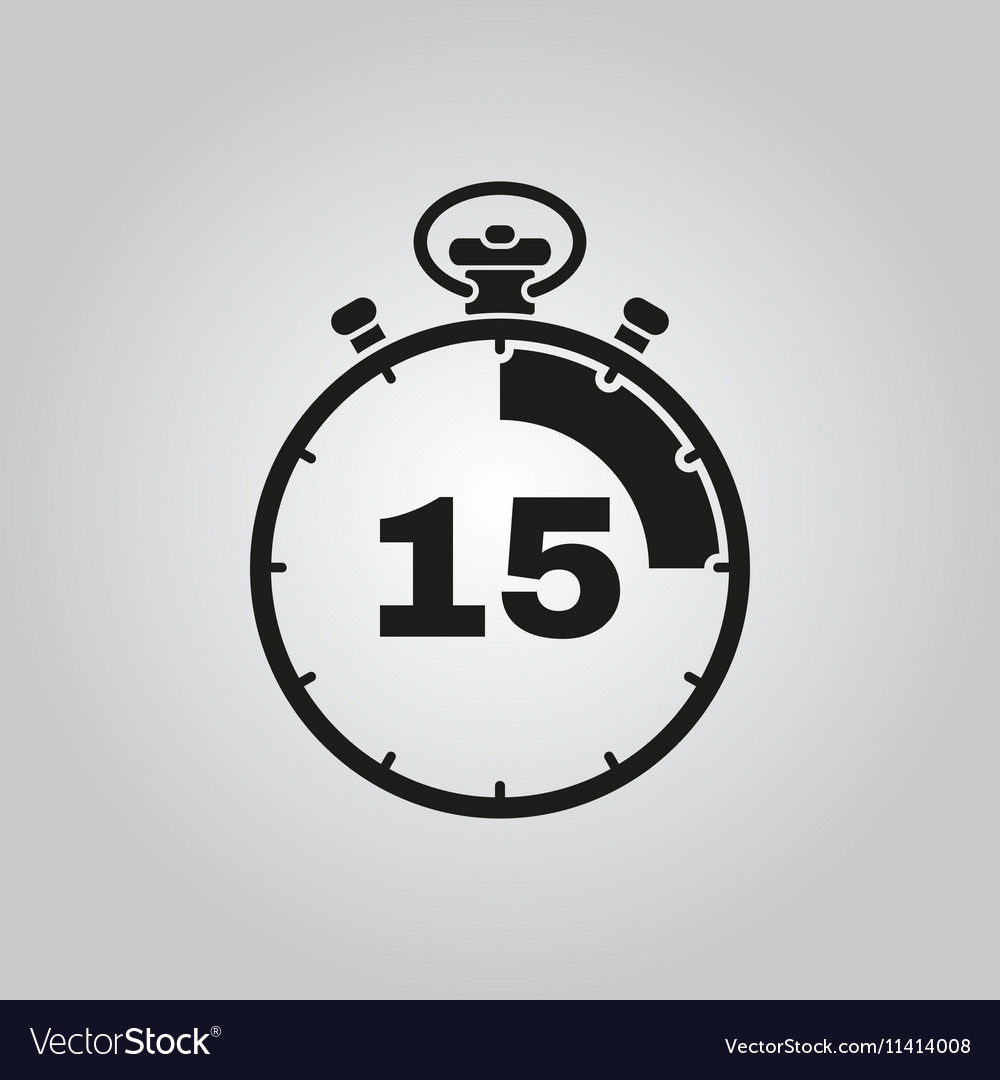 The 15 seconds minutes stopwatch icon Clock and