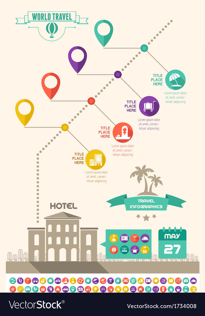 travel infographic template royalty free vector image