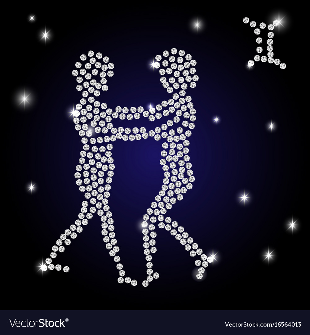 Brilliant sign of the zodiac gemini is the starry