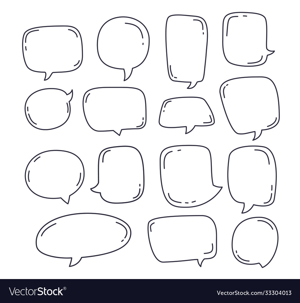Collection speech bubble or chat elements in