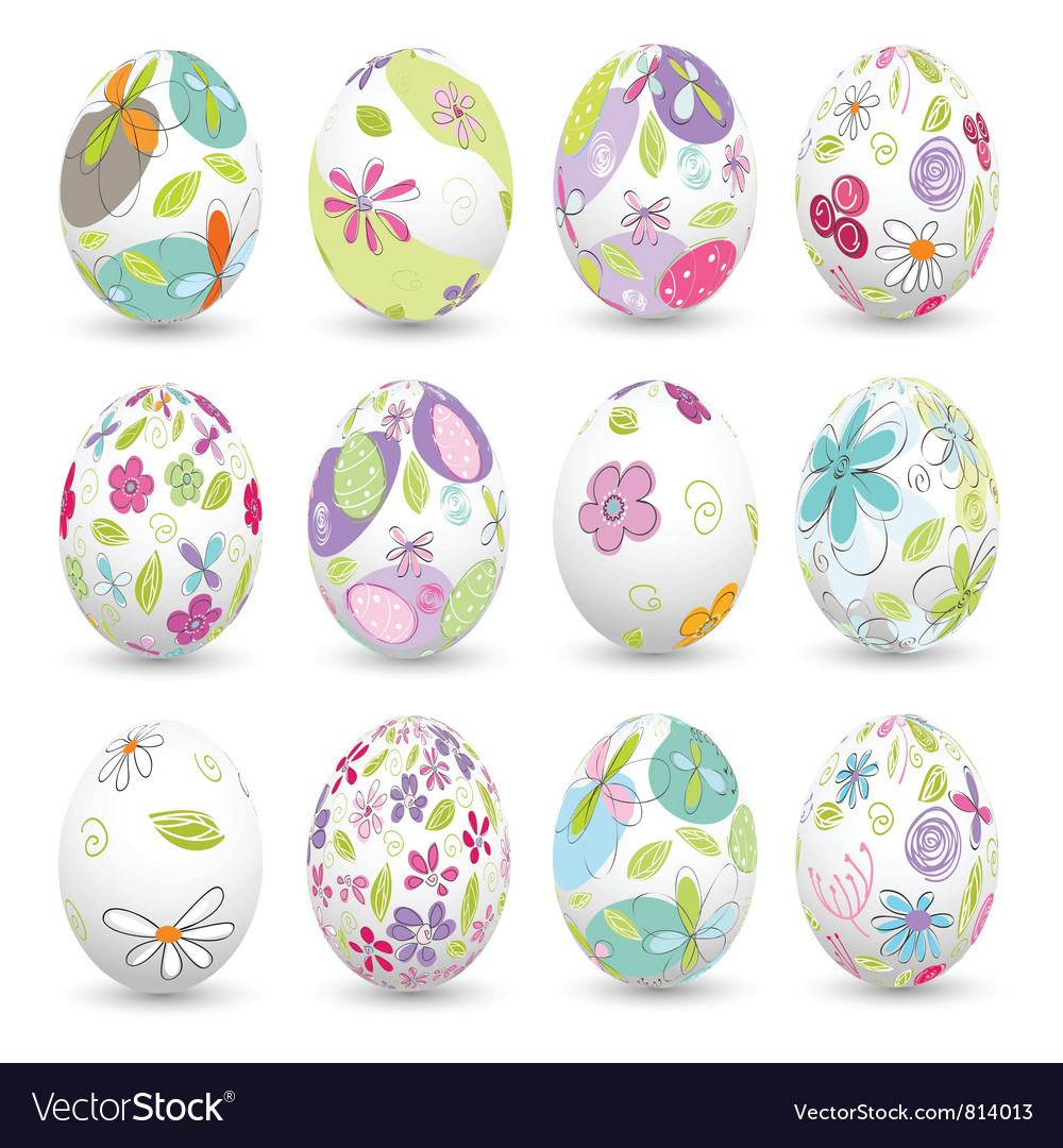 Easter eggs happy easter