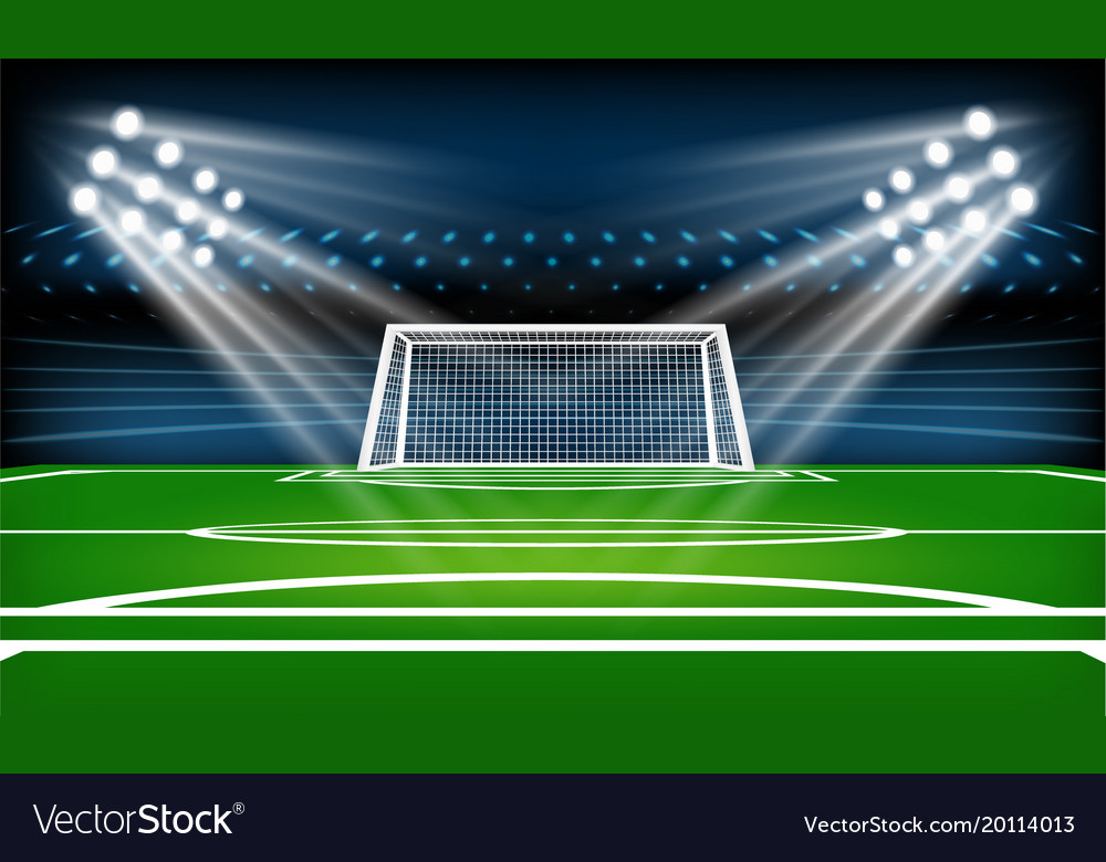Football or soccer playing field sport game vector image