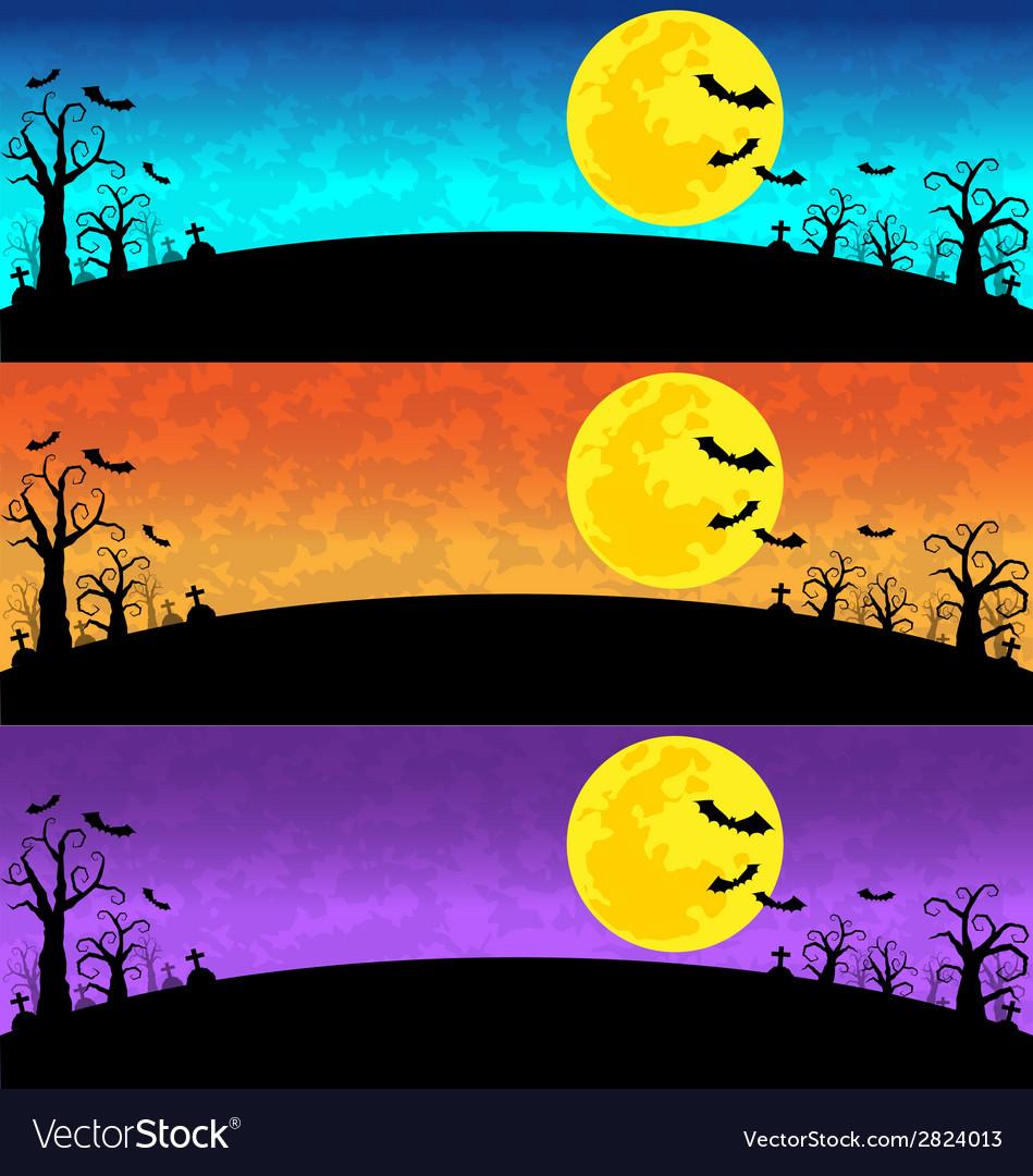 Halloween Background set
