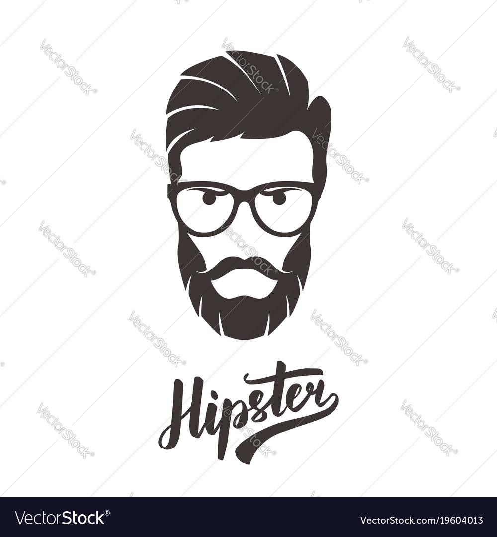 Hipster fashion bearded man portrait in glasses