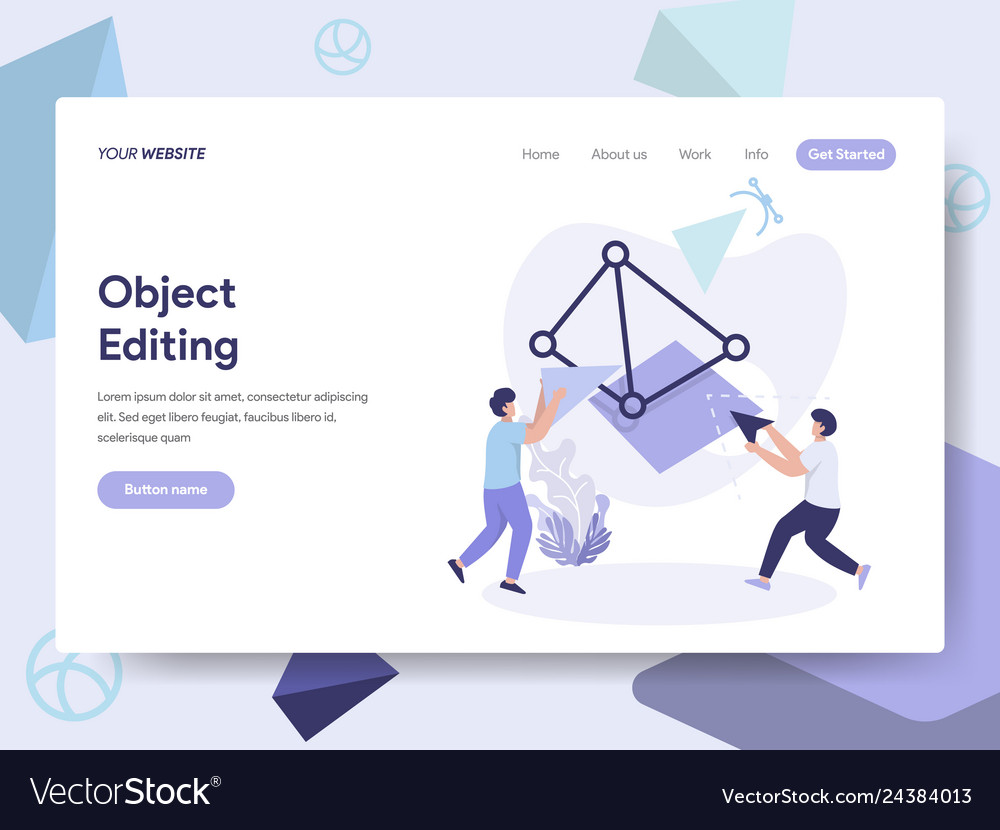 Landing page template of 3d printing object