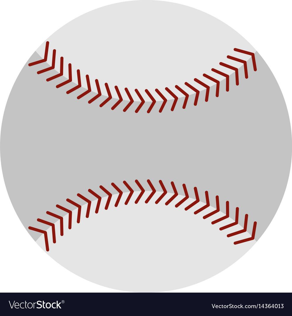 Softball ball icon isolated