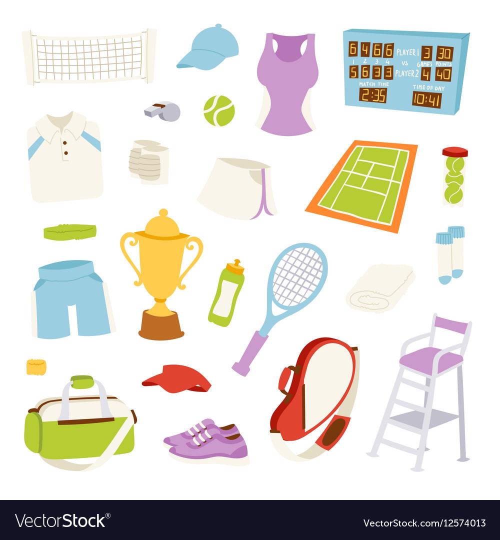 Various stylized tennis
