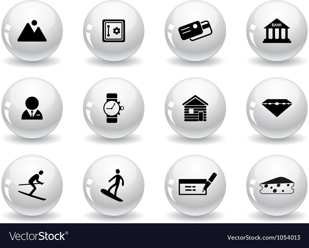 Web buttons Switzerland symbols vector image