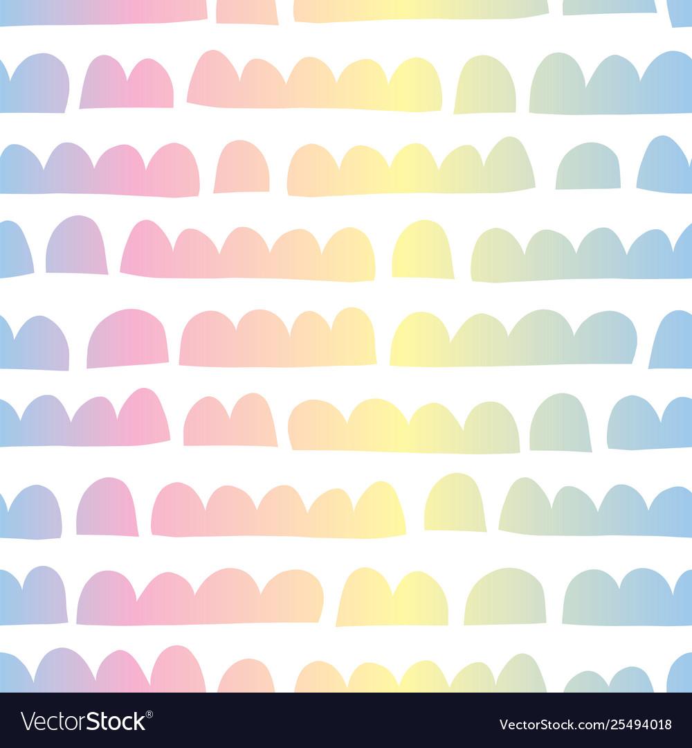 Abstract horizontal kids shapes rainbow colors