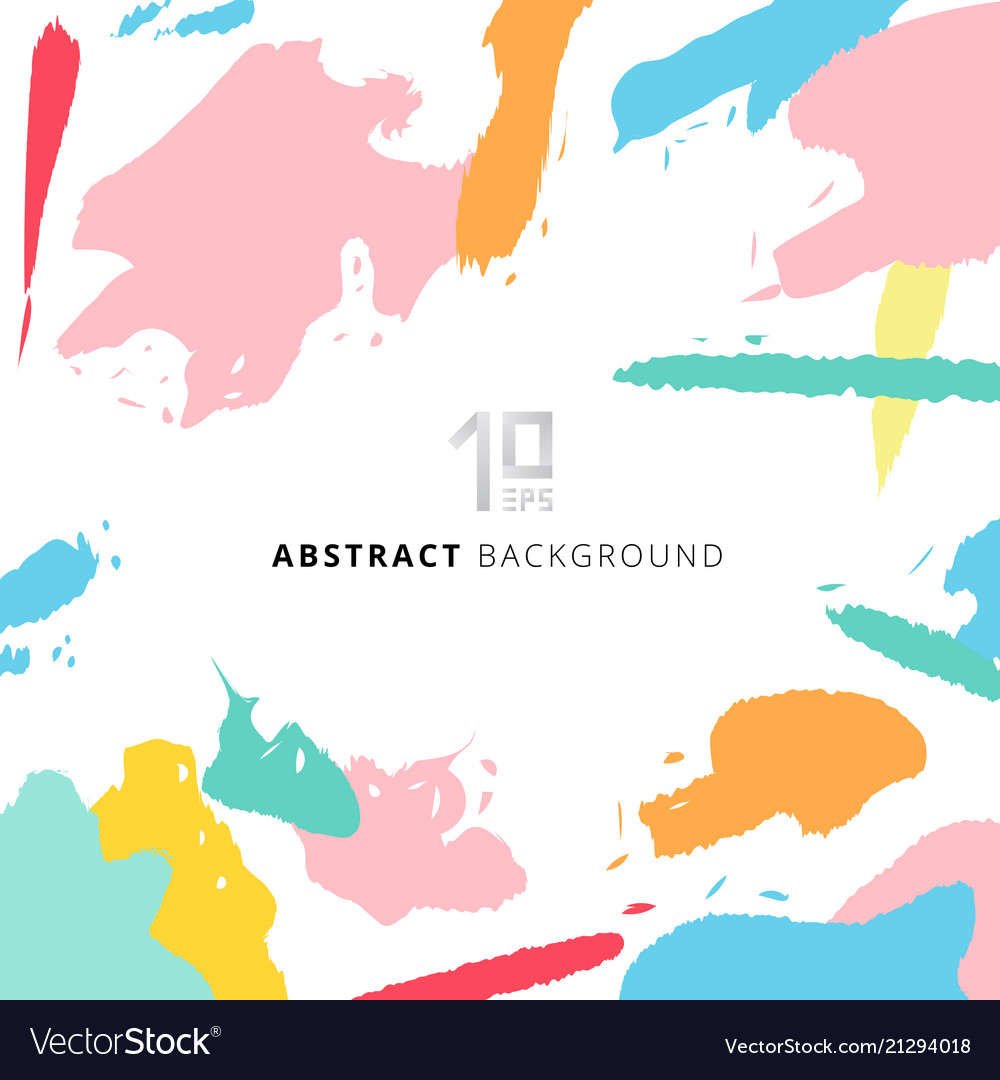 Abstract Shapes Art Pattern Pastels Color On