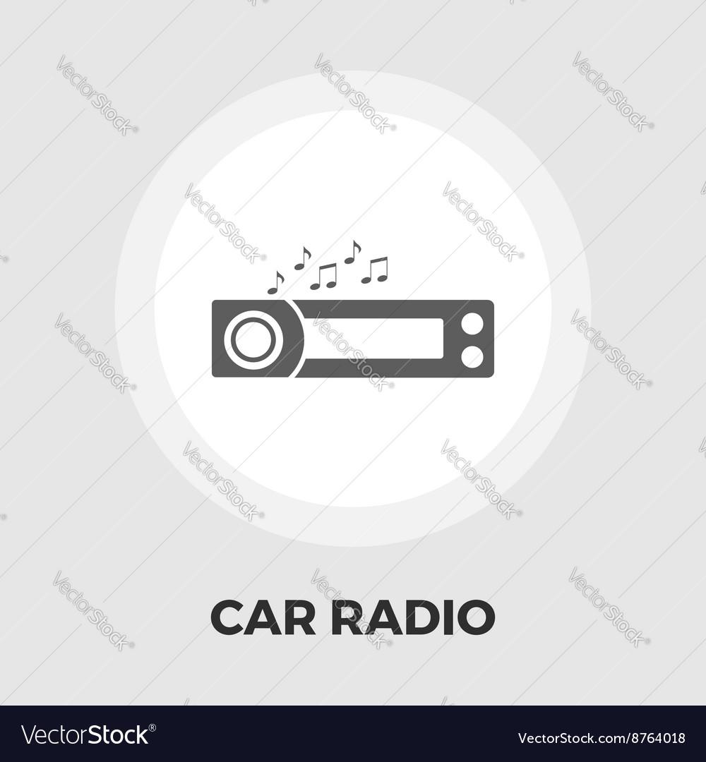 Car radio flat icon