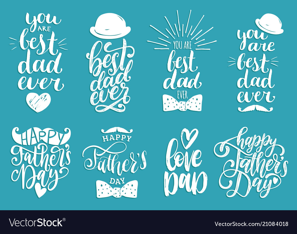 Fathers day holiday calligraphy collection