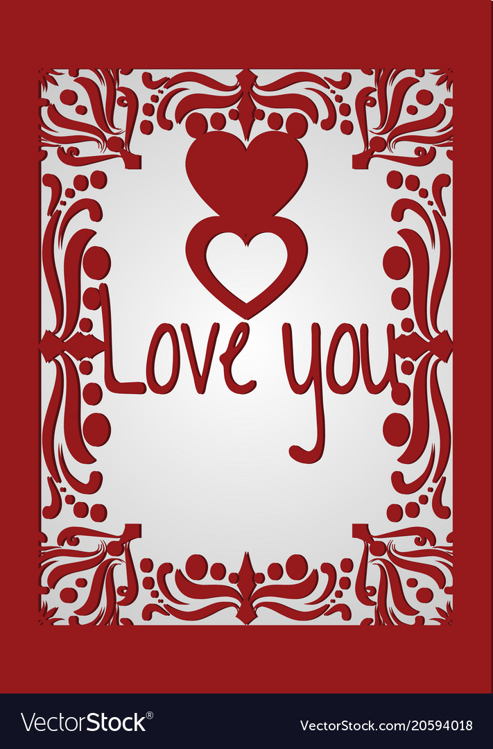 Valentine or wedding card with hearts and love vector image