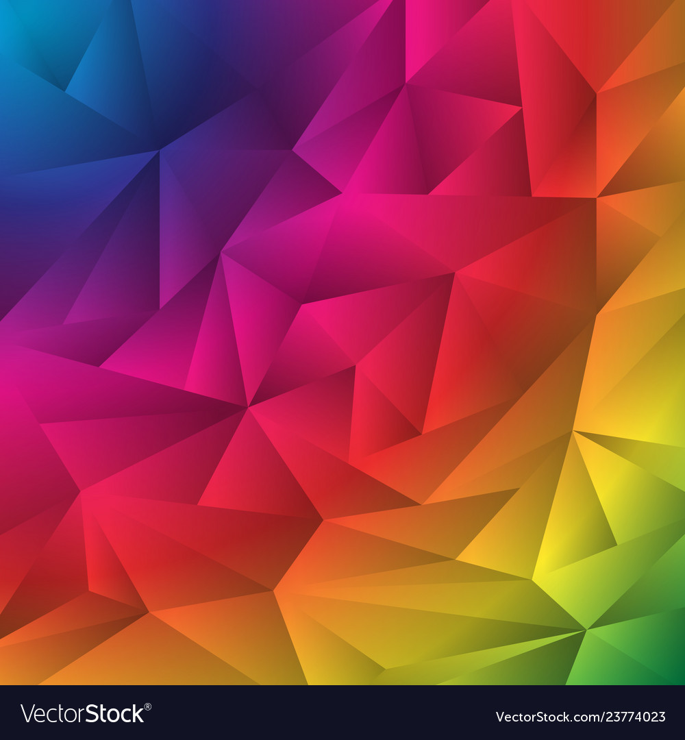 Abstract multicolor geometric rumpled triangles