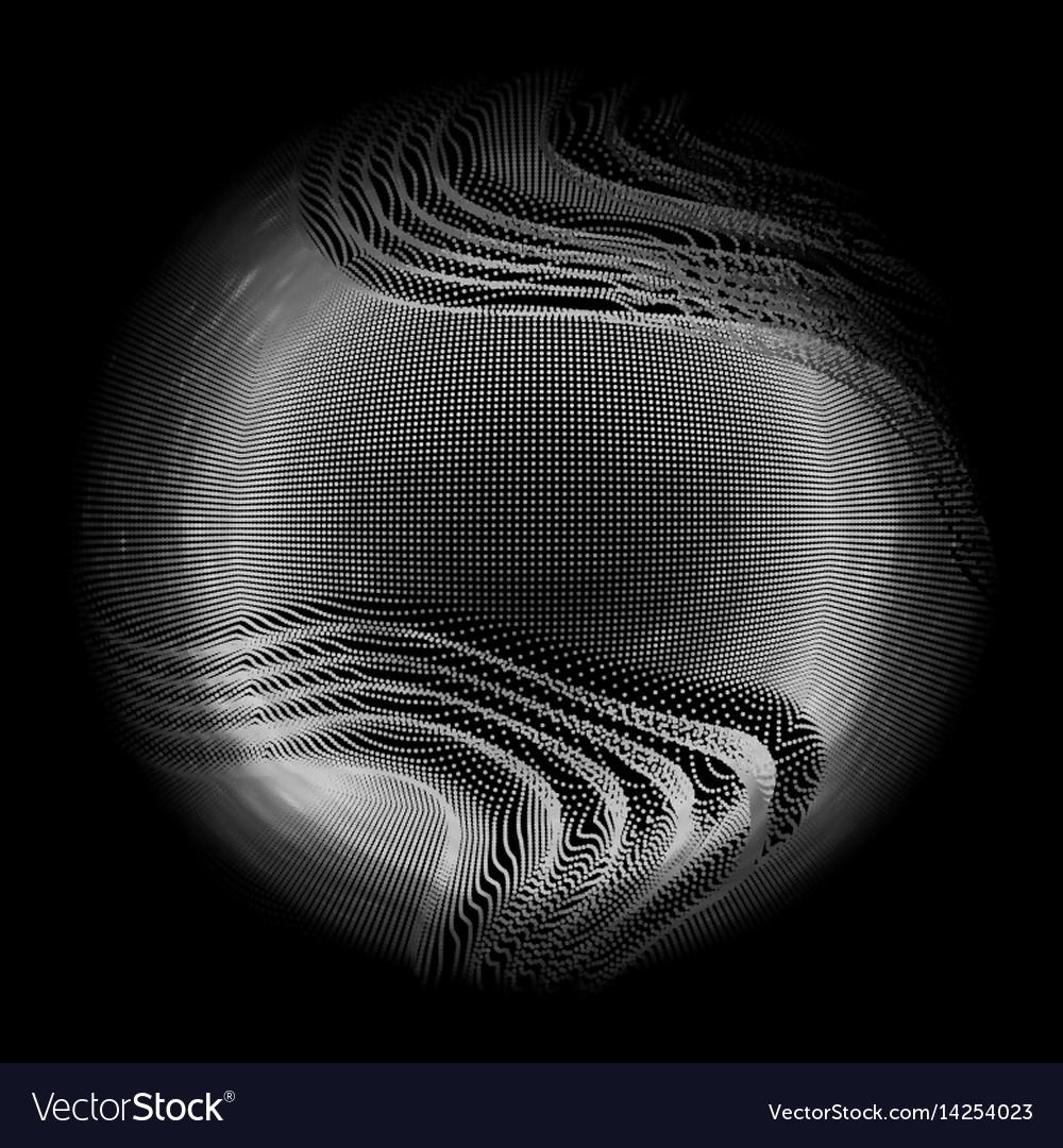 Abstract white mesh sphere on dark
