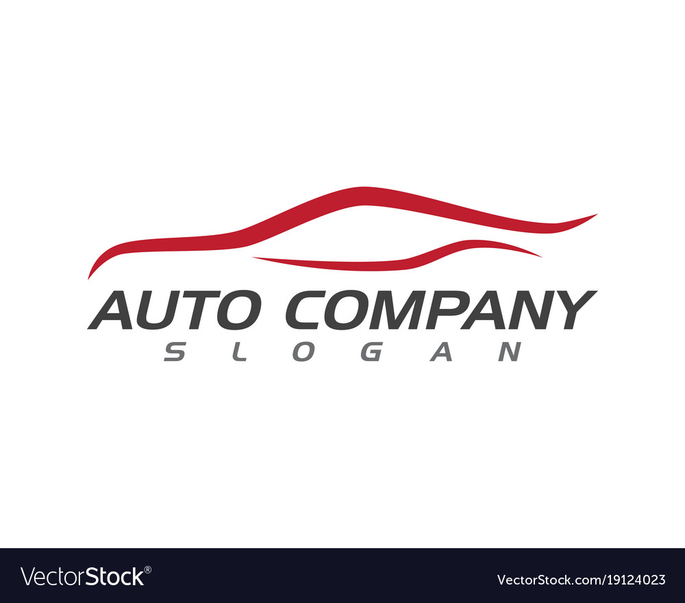 Auto Car Logo Template Royalty Free Vector Image