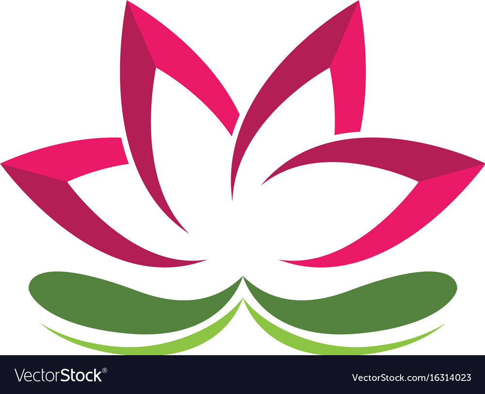 Beauty lotus flowers design logo template icon Vector Image