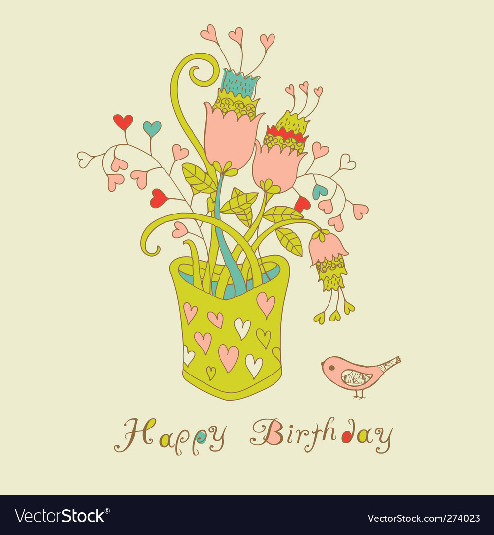 Birthday card vector 274023 by Lavandaart | Royalty Fre