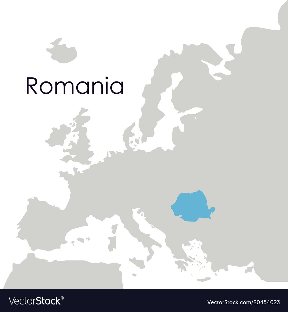 Isolated romania map design