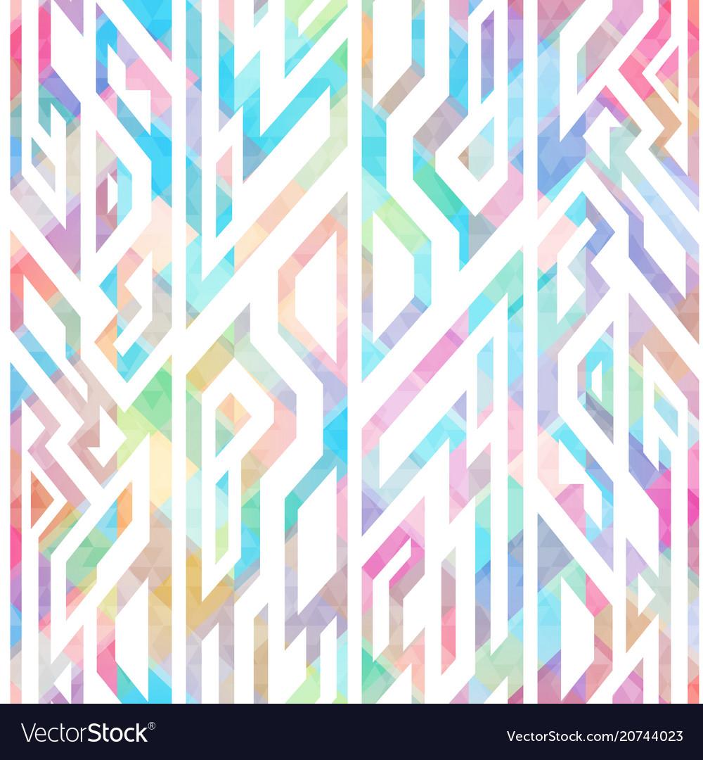 Multicolor geometric seamless pattern