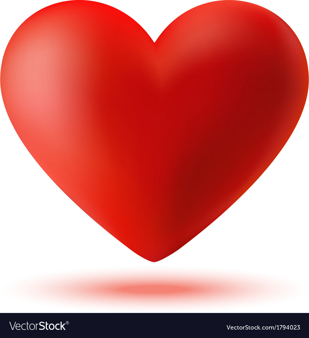 Red 3d Valentine Heart Royalty Free Vector Image