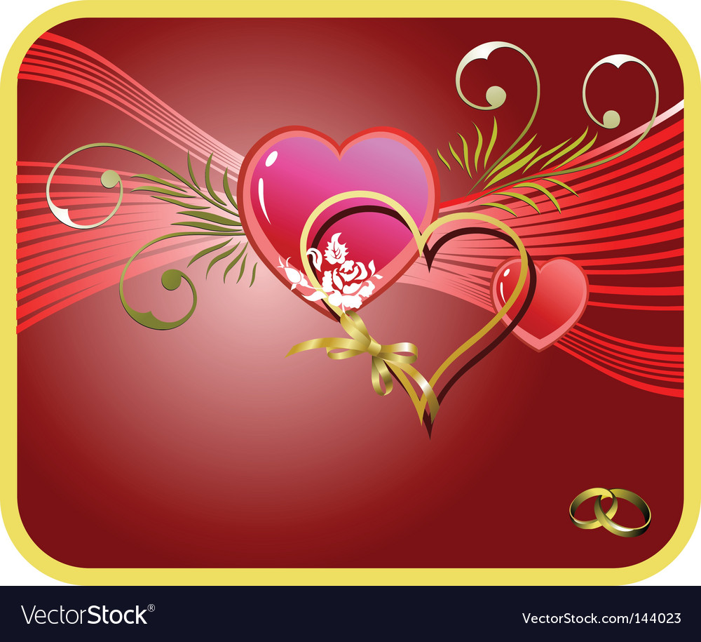 Wedding Greeting Card Vector Image