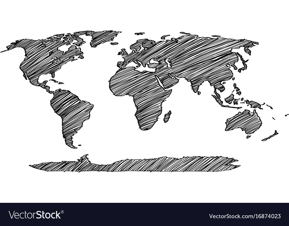 World map earth globe line royalty free vector image world map earth globe line vector image gumiabroncs Images