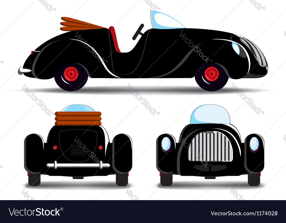 Cartoon black car