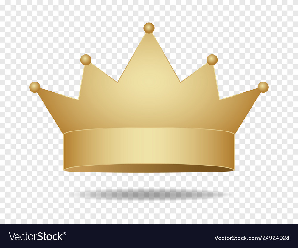Gold King Crown Golden Corona Royalty Free Vector Image
