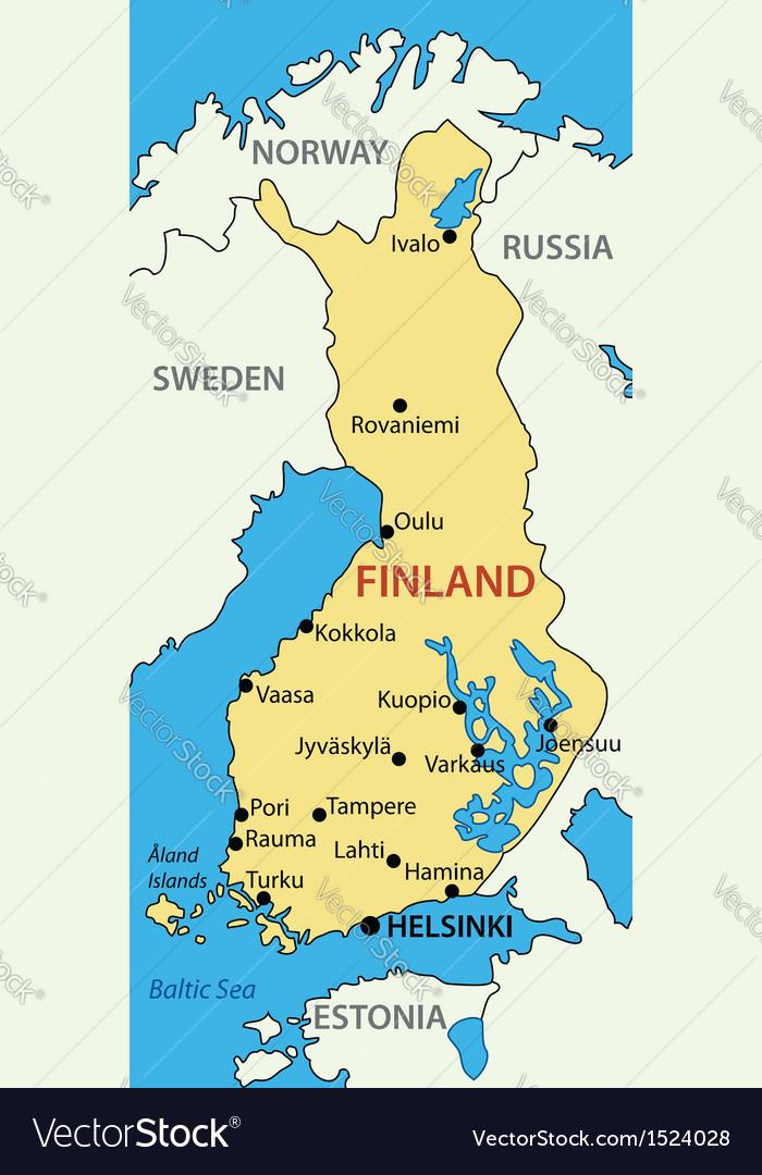 Republic of Finland - map