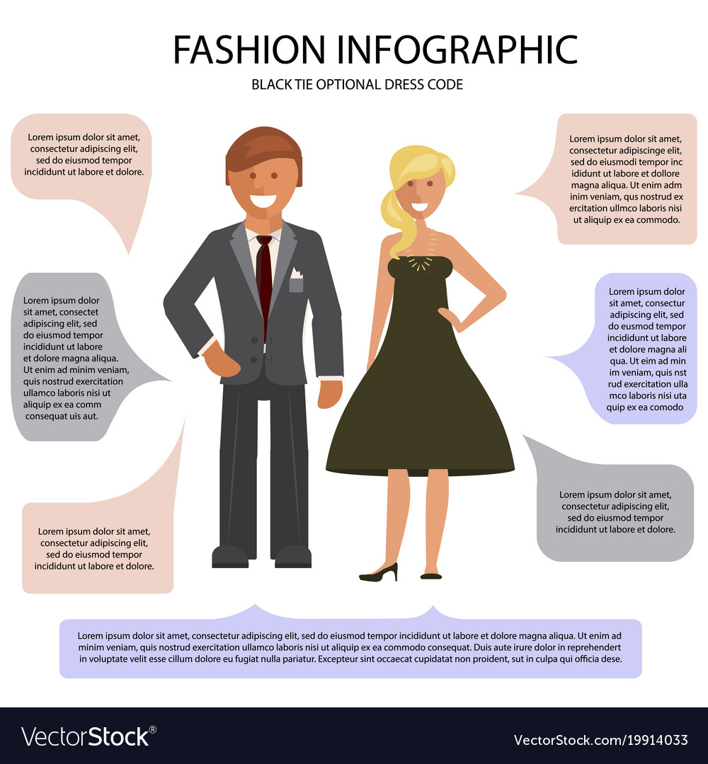 Black Tie Optional Dress Code Vector Image