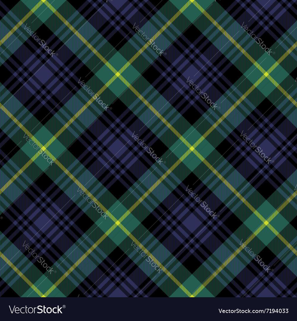 Gordon tartan fabric textile check pattern vector image