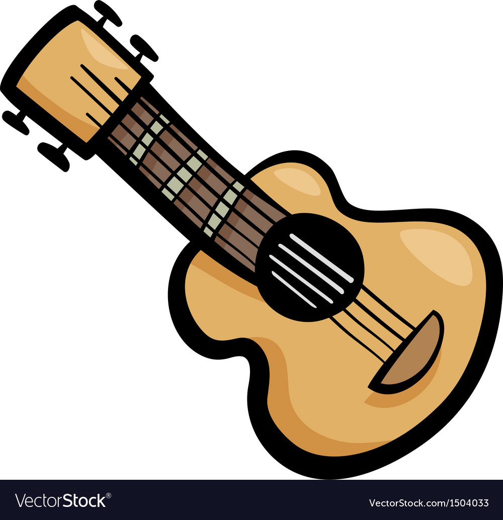 Guitar Clip Art Cartoon Royalty Free Vector Image