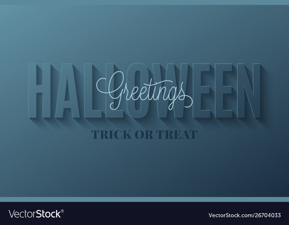 Happy halloween banner card creative letter font