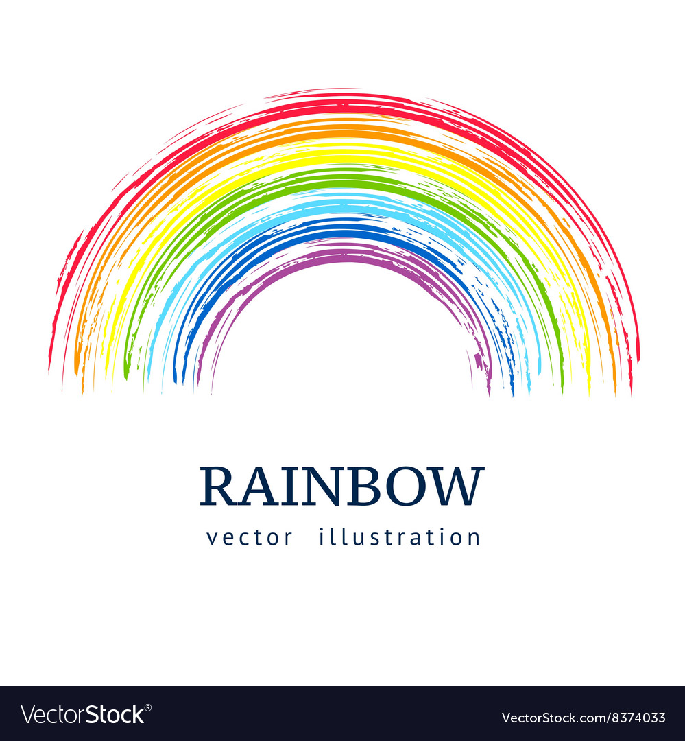 Ink rainbow abstract background