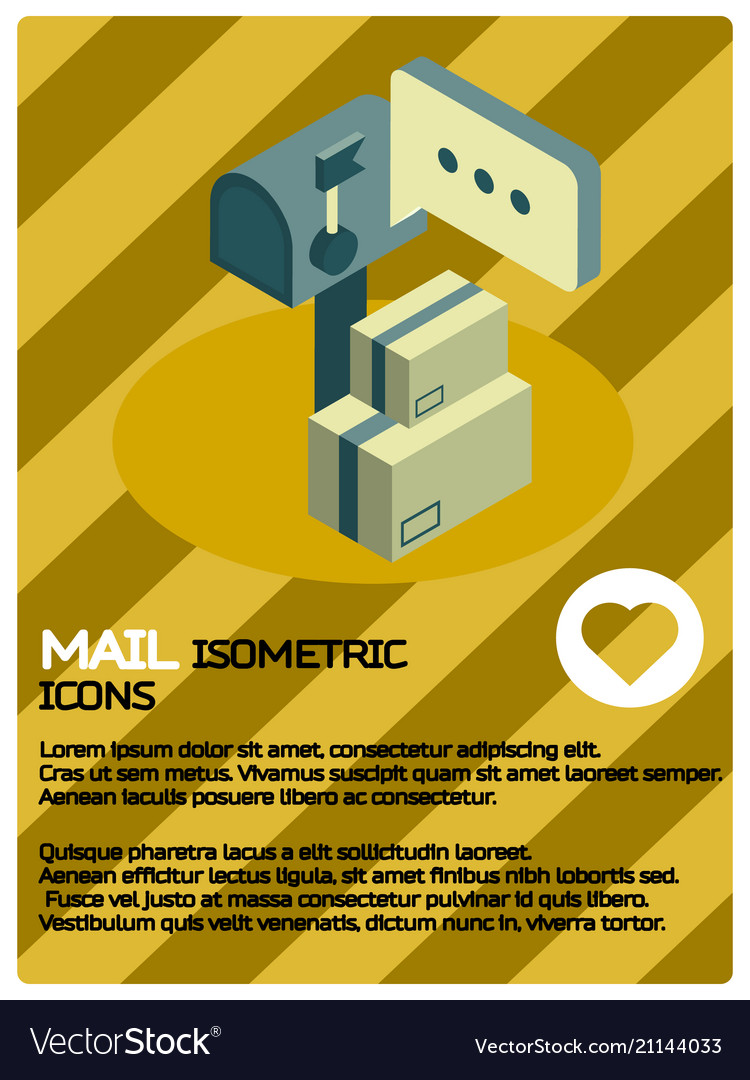 Mail color isometric poster