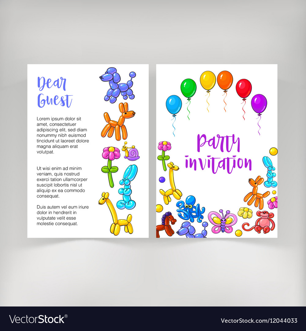Poster leaflet invitation design with twisted
