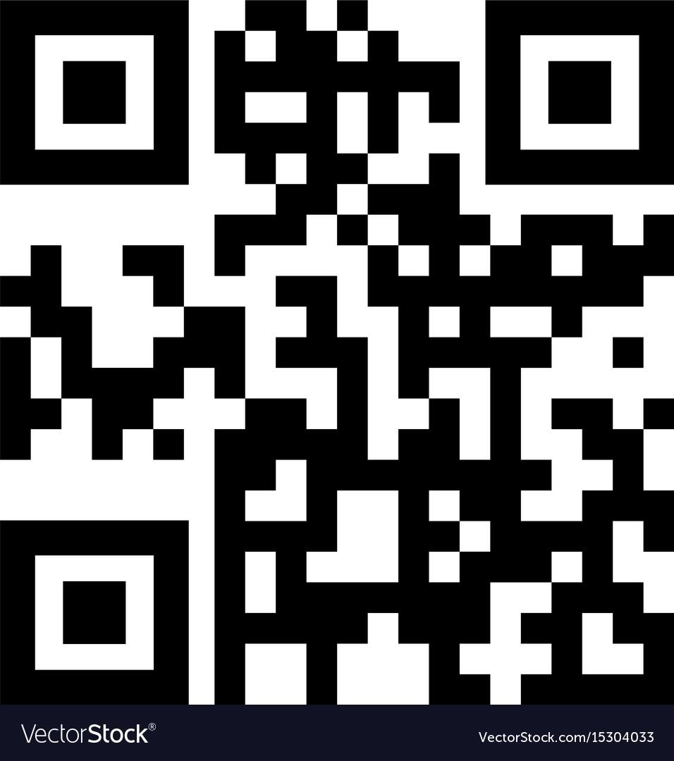 Qr code the black color icon