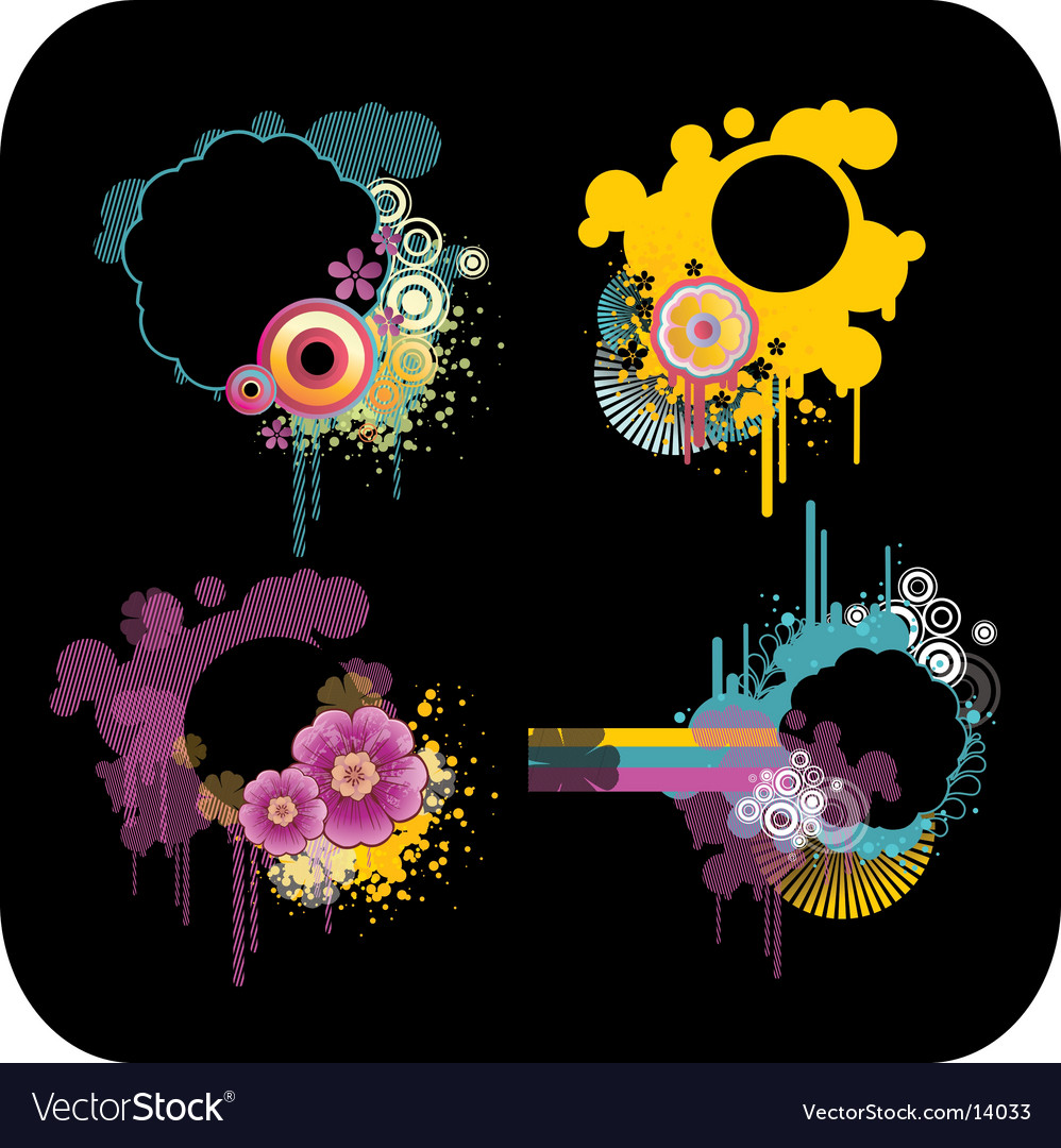 c3a2741ca3bb Set of colour frames Royalty Free Vector Image