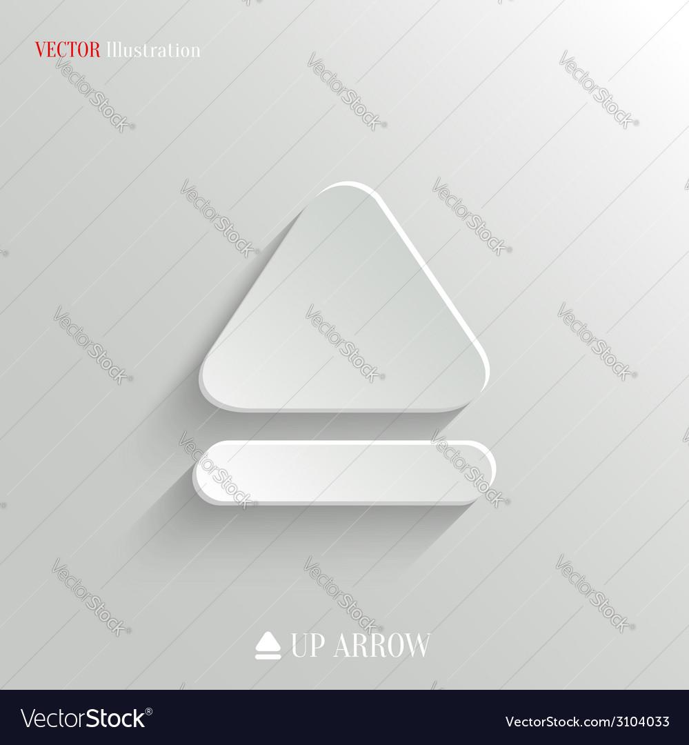Up arrow icon - white app button