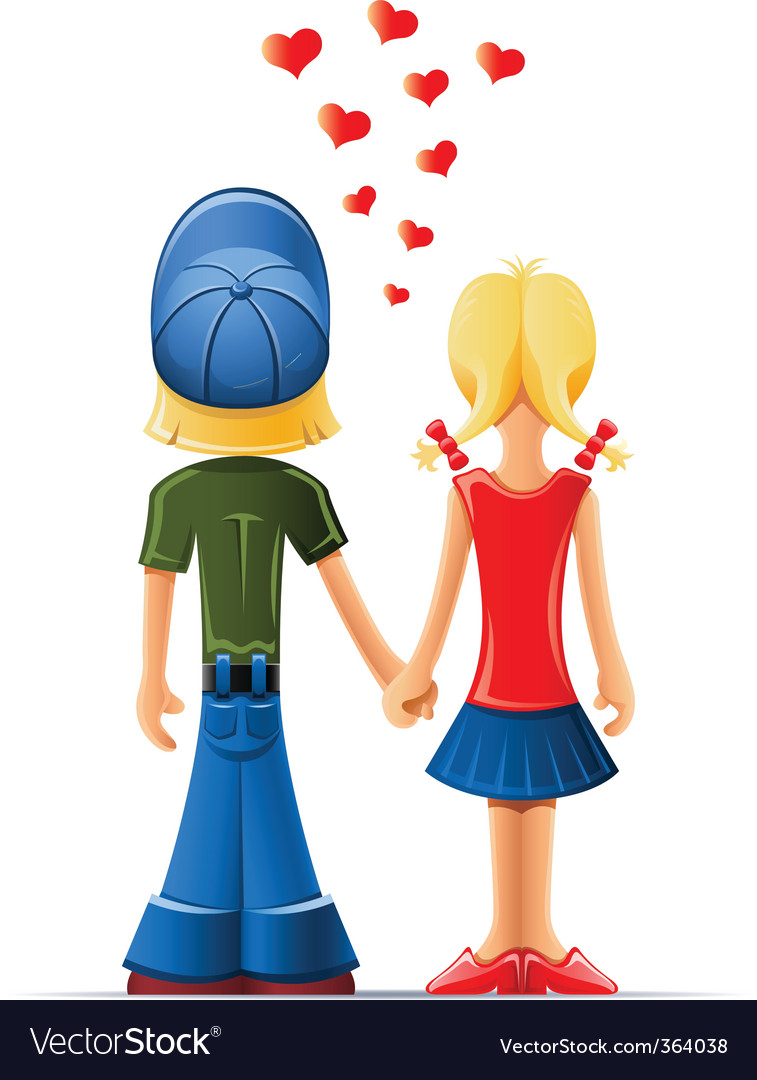 Boy and girl lovers vector image