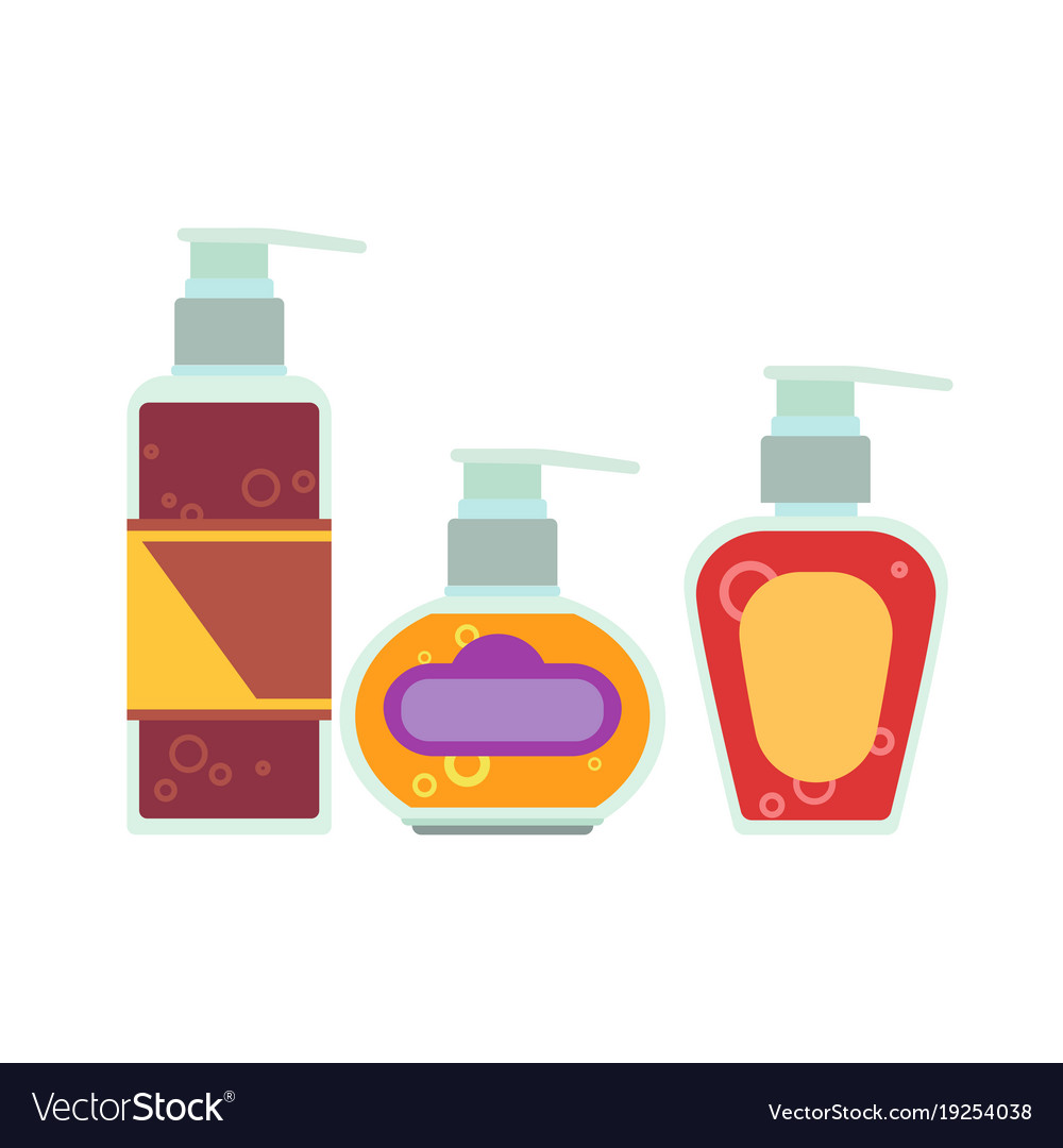 Cosmetic bottle cream packaging mock up vector image