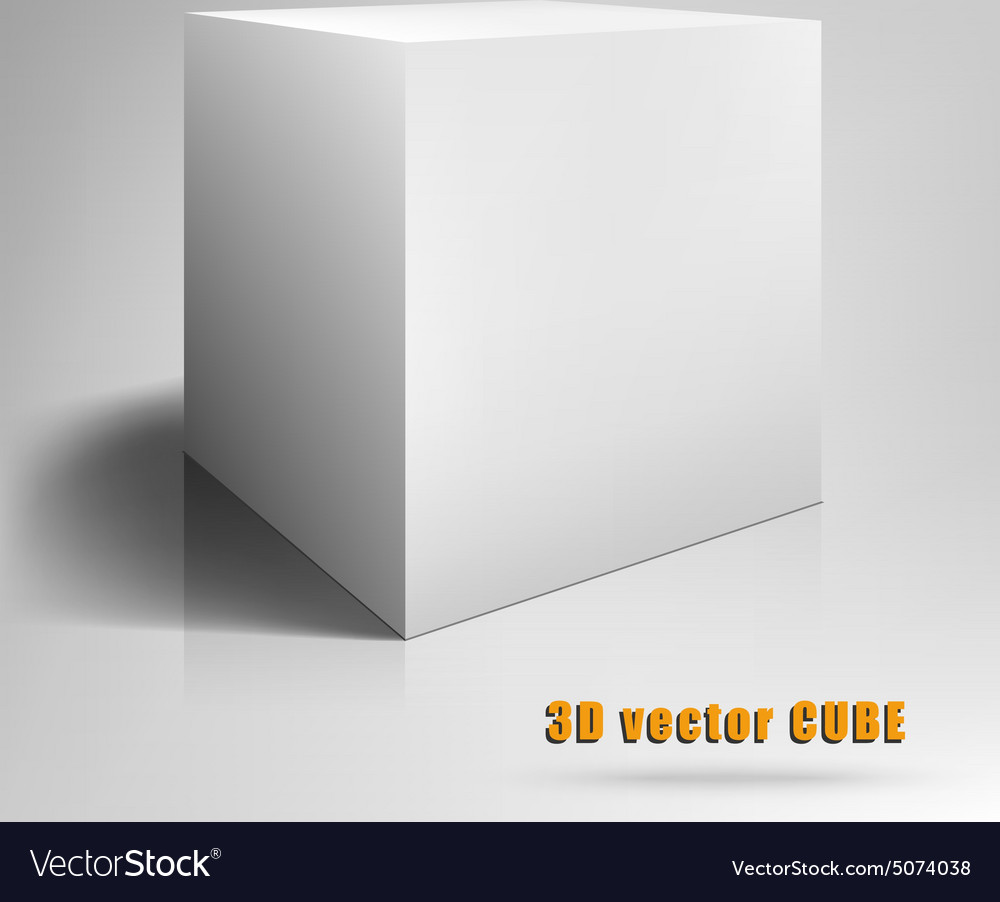 Cube 3D template for your Royalty Free Vector Image