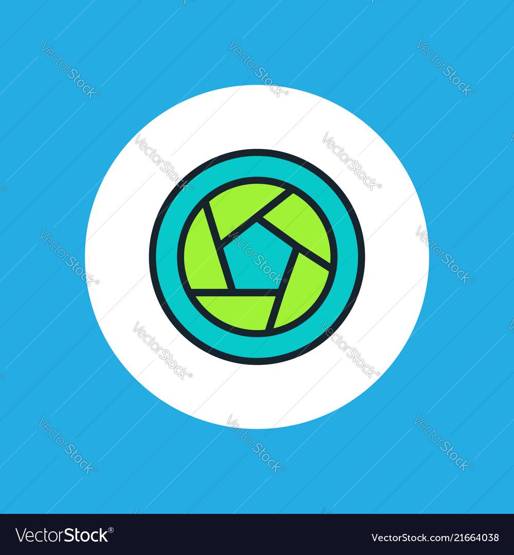 Diaphragm icon sign symbol