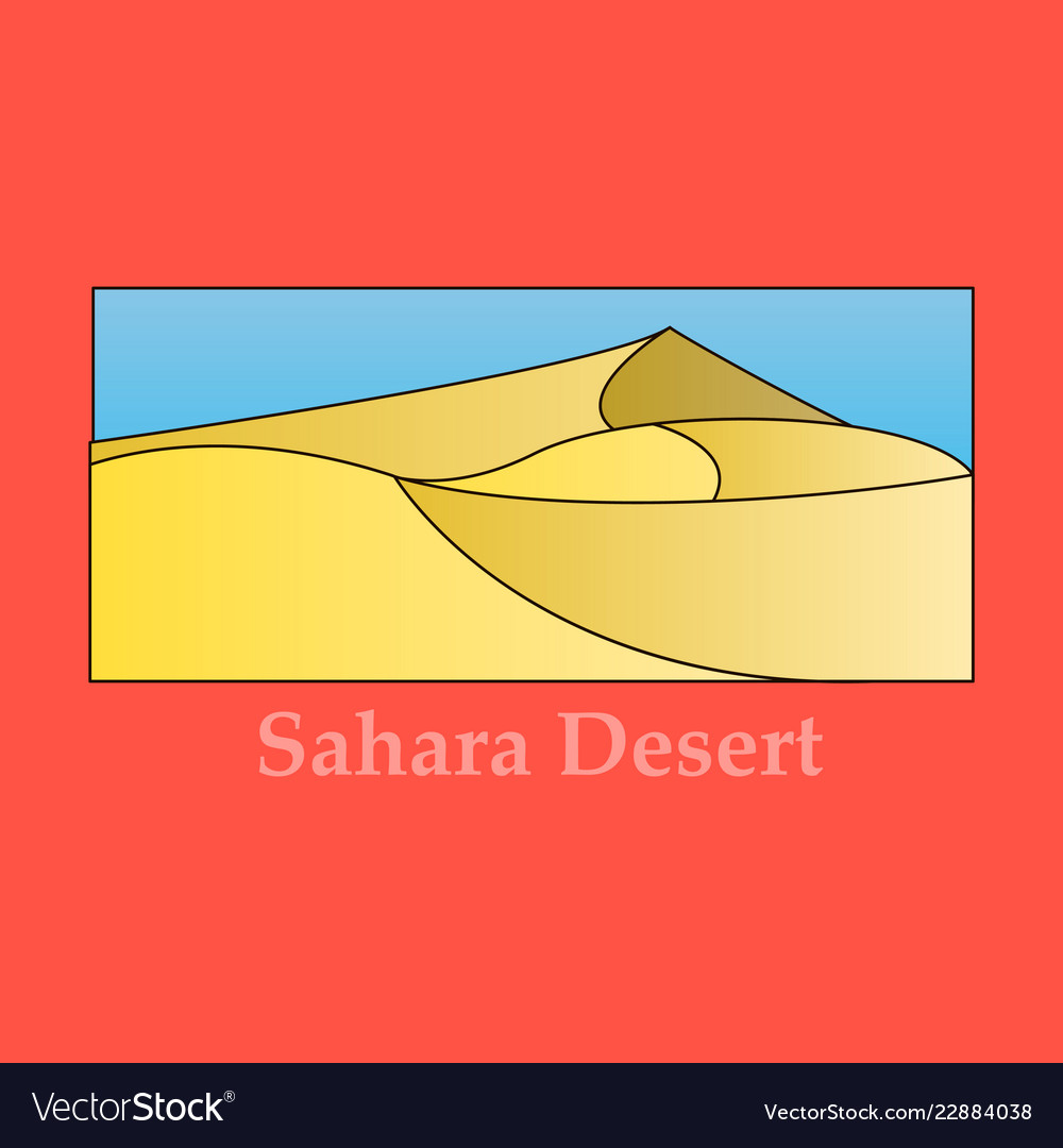 flat simple design of desert near ocean sea