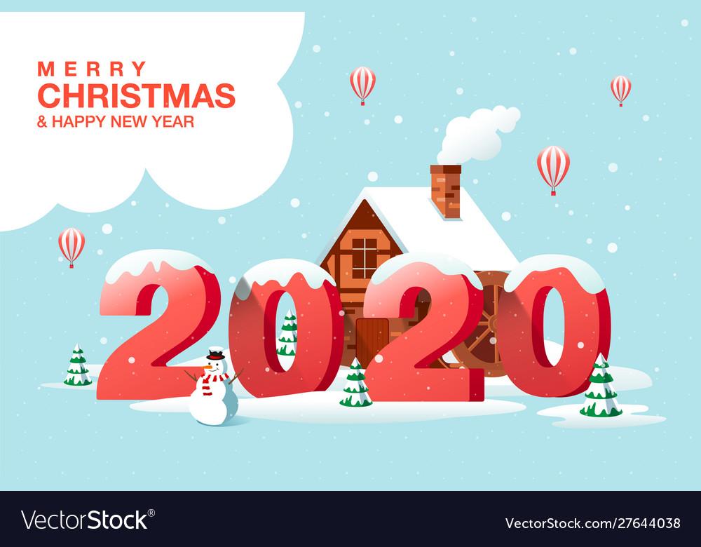 Merry christmas happy new year 2020 hometown