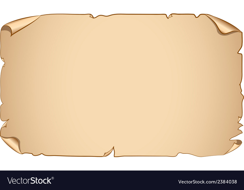 Old paper scroll banner vector image