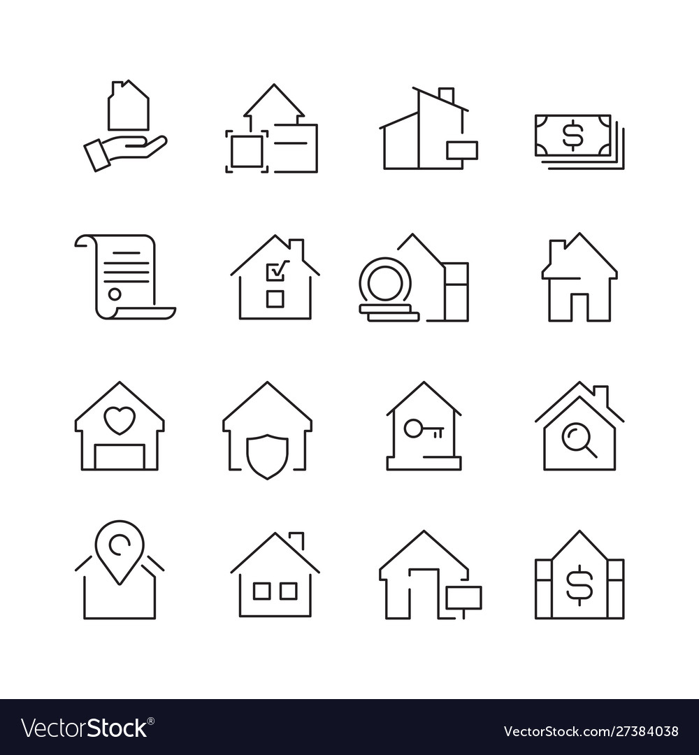 Real estate icons business marketing sale houses